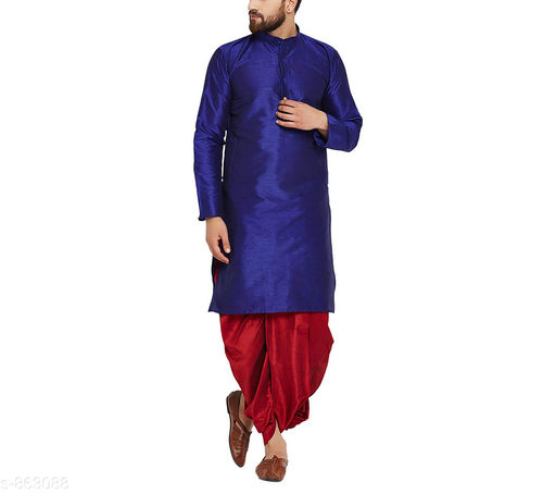 Trendy Men's Silk Kurta & Dhoti Set