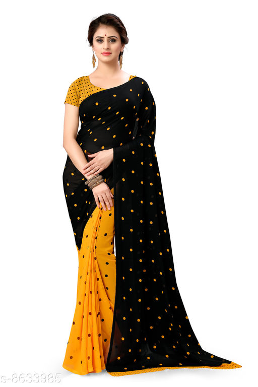 Anand Sarees Polka Print Daily Wear Georgette Saree