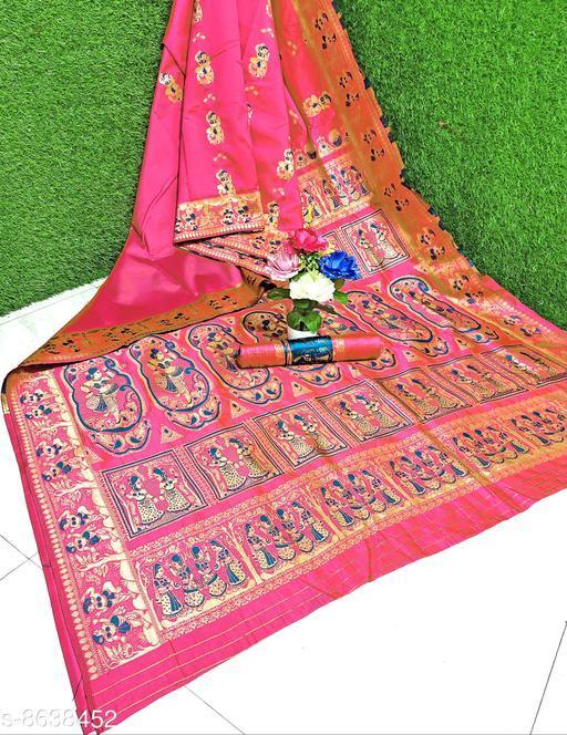 Ghoomer Elegant Woven Baluchari Banarasi Silk Saree