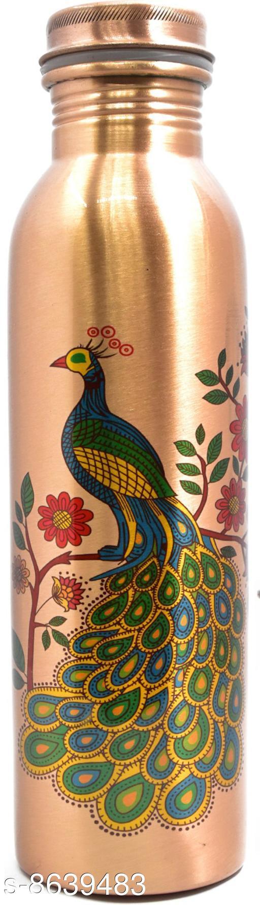Indipot Premium quality high grade 100% pure copper water bottle 1000ml