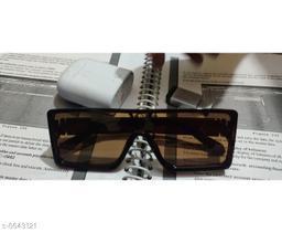 ETRG Unisex Premium Square Brown  Causal Plastic Body Sunglass