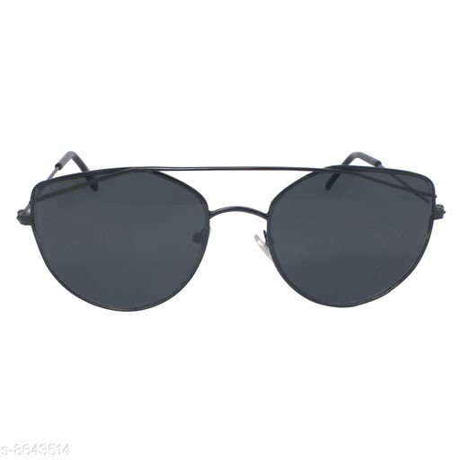 DXB Black Cat-Eye Metal Body Sunglass