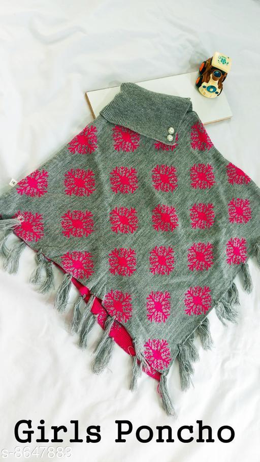 Jackets & Coats DivaStudio's Girls Ponchos  *Fabric* Wool  *Multipack* 1  *Sizes*  2-3 Years  *Sizes Available* 2-3 Years, 3-4 Years *    Catalog Name: Tinkle Stylish Girls Jackets & Coats CatalogID_1470274 C62-SC1153 Code: 554-8647883-