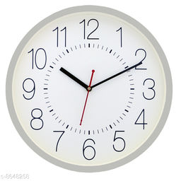 Masstone Ocean Series Silver Round Wall Clock