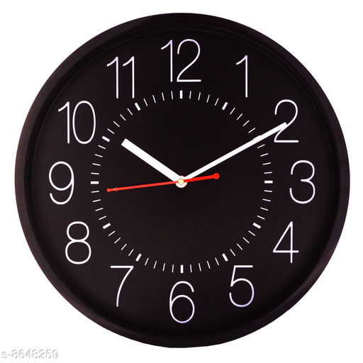 Masstone Ocean Series Black Round Wall Clock