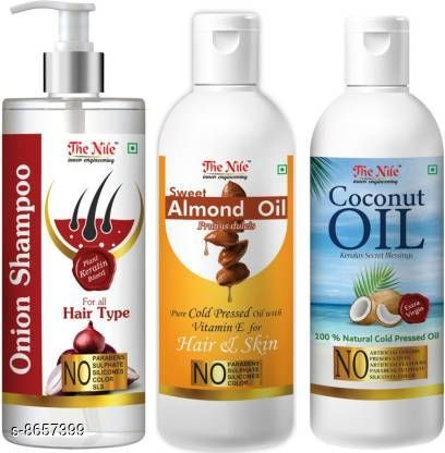 Hair Care Hair New Hair Oil The Nile 100 % Pure and Natural Hair Growth Tonic Oil For Hair Regrowth,  Anti Hair Fall 150 ML + 100 % Pure Coconut Oil, Natural Kerala Cold Pressed Oil 100 ML X 2 (200 ML) (Combo Pack of 3 Bottle) (350 ML) Hair Oil PRICE-404 DISPATCH 2 TO 3 DAYS  *Sizes Available* Free Size *    Catalog Name: Hair New Hair Oil CatalogID_1472522 C50-SC1249 Code: 765-8657399-0051