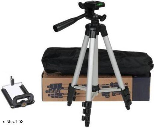 Camera Tripod  Tripod Material: Aluminium Color: Black Portable: Yes Dispatch: 2-3 Days Sizes Available: Free Size    Catalog Name: Tripod CatalogID_1472636 C108-SC1411 Code: 376-8657992-