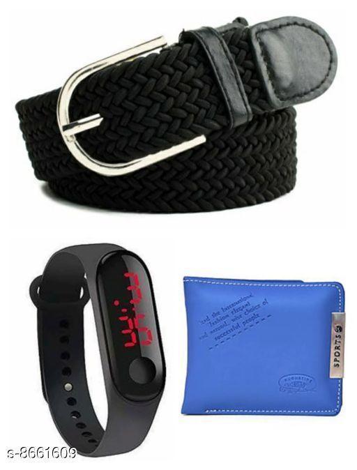 Belts Men Belt  *Material* Wallet & belt leatherite , led plastic  *Multipack* Pack Of 3  *Sizes*   *28 (Waist Size* 28 in, Belt Length Size  *30 (Waist Size* 30 in, Belt Length Size  *32 (Waist Size* 32 in, Belt Length Size  *34 (Waist Size* 34 in, Belt Length Size  *Sizes Available* 28 *    Catalog Name: Fashionable Latest Men Belts CatalogID_1473525 C65-SC1222 Code: 843-8661609-