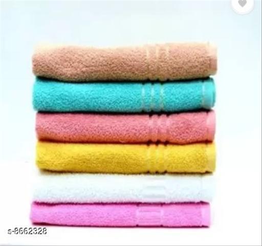 Cotton hand towel multicolours set of 6