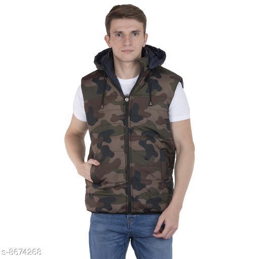 Burdy sleeveless solid men's fancy multicolor jacket
