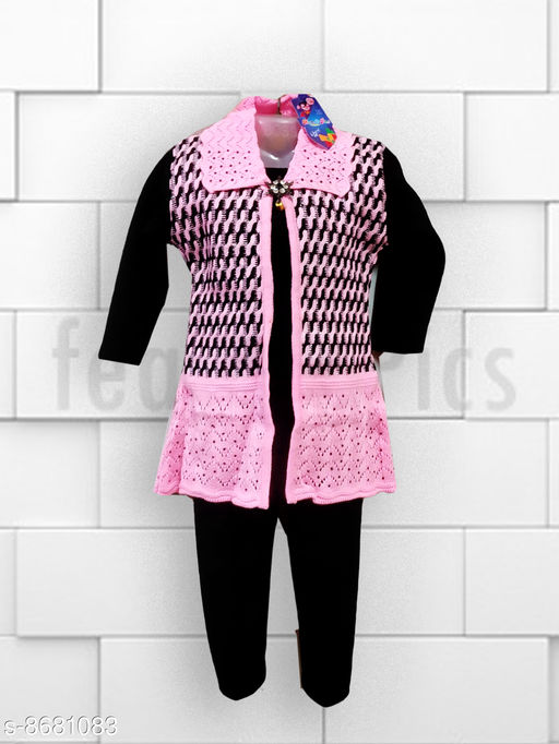 Sweaters KIDS WOOLLEN  SET  *Fabric* Wool  *Multipack* 1  *Sizes*  2-3 Years  *Sizes Available* 2-3 Years *    Catalog Name: Pretty Trendy Girls Sweaters CatalogID_1477894 C62-SC1149 Code: 875-8681083-997