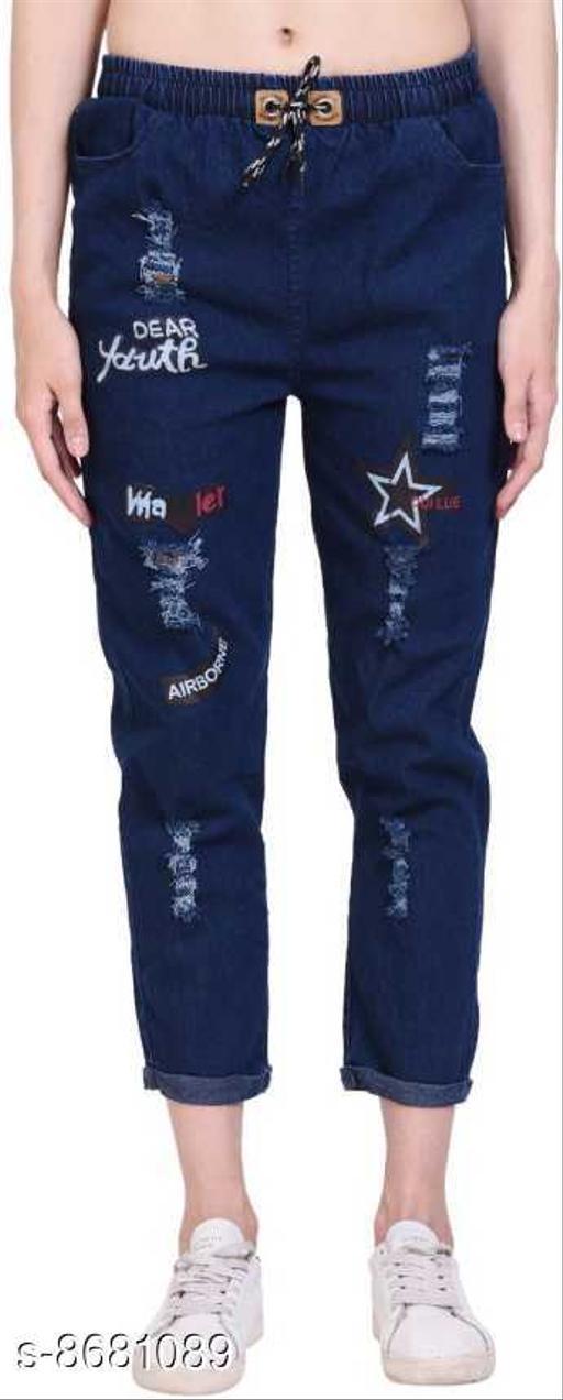 Allen Ville Jogger Fit Women Dark Blue Jeans