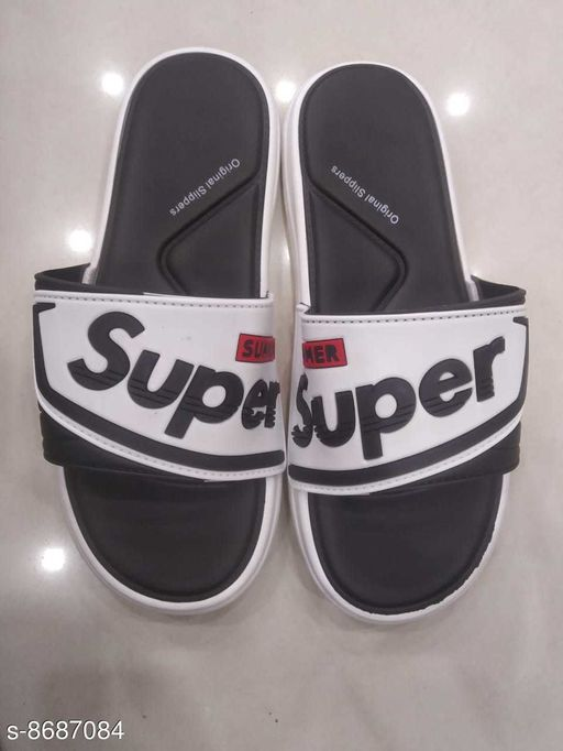 Flip Flops STYLISH MEN FLIPFLOPS  *Material* Synthetic  *Sizes*  IND-9  *Sizes Available* IND-9 *    Catalog Name: Modern Fashionable Men Flip Flops CatalogID_1479309 C67-SC1239 Code: 604-8687084-