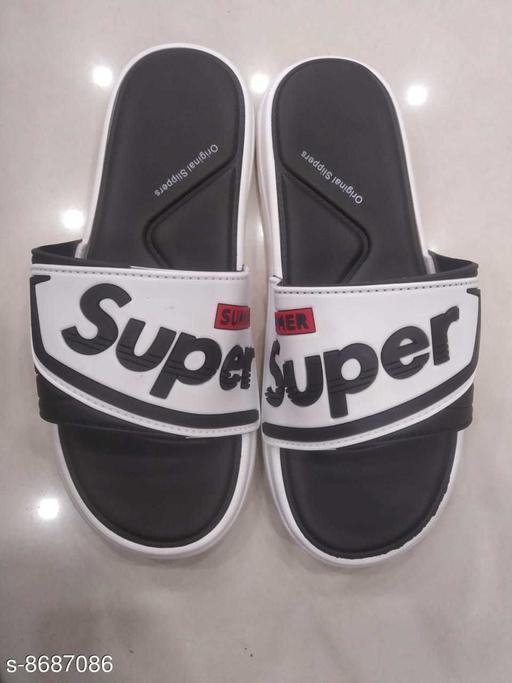 Flip Flops STYLISH MEN FLIPFLOPS  *Material* Synthetic  *Sizes*  IND-8  *Sizes Available* IND-8 *    Catalog Name: Modern Fashionable Men Flip Flops CatalogID_1479309 C67-SC1239 Code: 604-8687086-