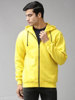 EPPE Men's Full Sleeve  Polycotton Fleece Zipper Sweatshirt
