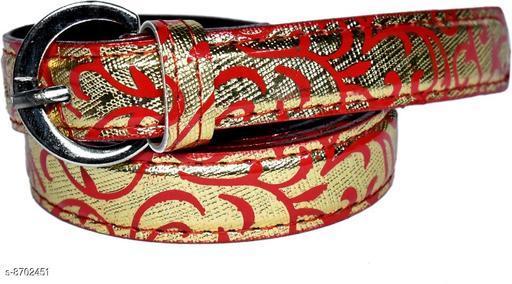 Belts Trendy women  Belt  *Material* Leather  *Pattern* Printed  *Multipack* 1  *Sizes*  32  *Sizes Available* 32 *    Catalog Name: Fancy Modern Women Belts CatalogID_1482838 C72-SC1081 Code: 074-8702451-