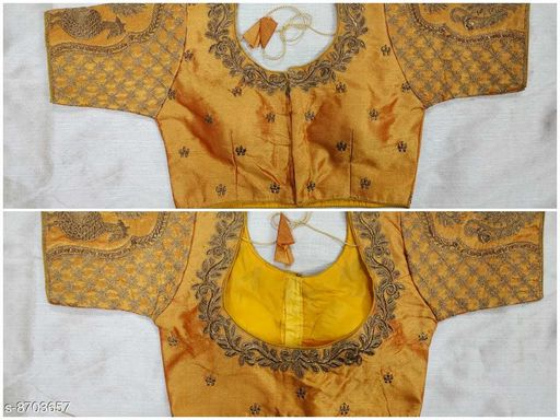 Linaro Lifestyles Women's Heavy Malbari Silk  Blouse