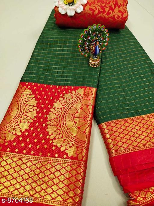 Trendy Soft Cotton silk Mendi saree with Zalar Pallu