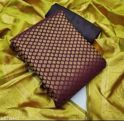 Ethnic Motif Zari Woven Jacquard Suits & Dress Materials (Single Pack)