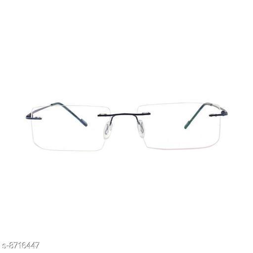 Alvia Rectangular Metal Unisex Eyewear Frame