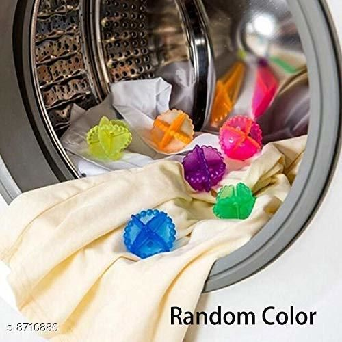 Soft Laundry Ball Washing Machine Washer Dry Durable Cloth Cleaning, 4- Piece (Multicolor)