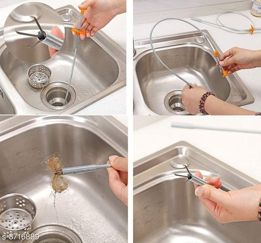 Hair Catchingl Sink Overflow Drain Cleaning Drain Clog Water Pipe Sink Cleaner