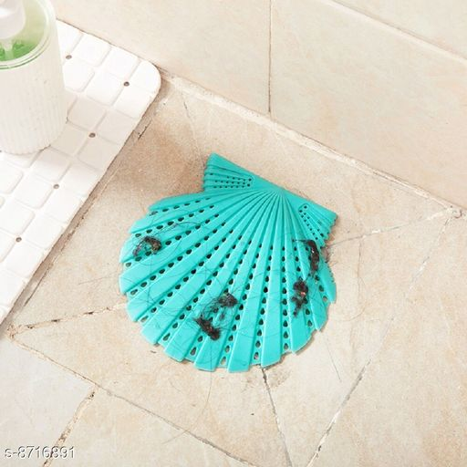 1PC Shell Sink Drain Strainer Hair Catcher Creative Silicone Bathroom Kitchen Deodorant Plug