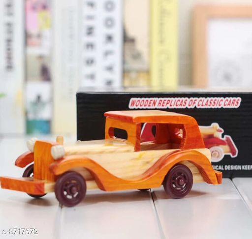 Show pieces Wooden Car Showpiece   *Material* Wooden  *Pack* Pack of 1  *Sizes Available* Free Size *    Catalog Name: Essential Idols & Figurines CatalogID_1486271 C127-SC1615 Code: 372-8717572-