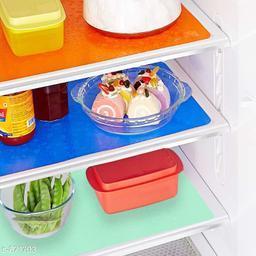 LooMantha PVC Refrigerator Drawer Mat, Pack of 3