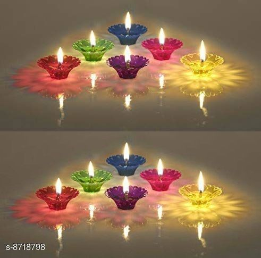 Festive color Flotting diyas set of 12