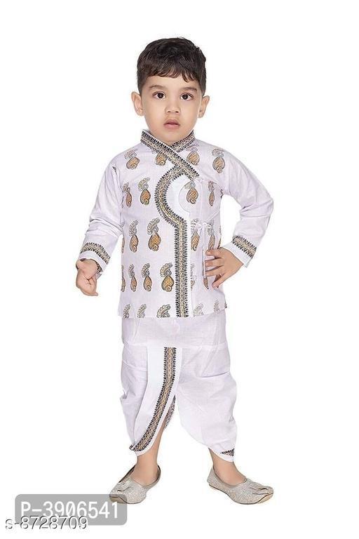 Trendy Soft Cotton Dhoti Kurta Set for Boys
