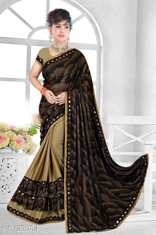Sarees  Refined malai Silk Sarees  *Saree Fabric* malai silk Silk  *Blouse Type* Running Blouse  *Blouse* net with embrodery work Blouse  *Blouse Fabric* malai Silk  *Pattern* Jacquard lining  *Blouse Pattern* banglori silk  *Multipack* Single  *Sizes*   *Free Size (Saree With Blouse Length Size* 6.3 m, )  *Sizes Available* Free Size *    Catalog Name: Refined malai Silk Sarees CatalogID_1489080 C74-SC1004 Code: 574-8729984-