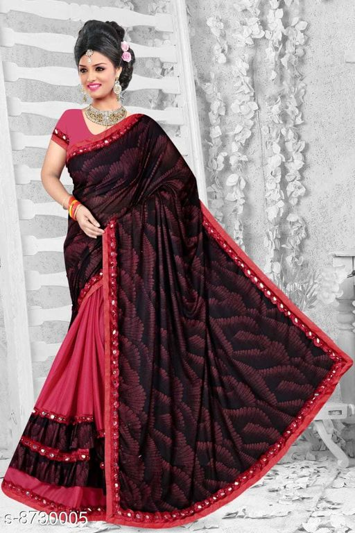 Sarees  Refined malai Silk Sarees  *Saree Fabric* malai silk Silk  *Blouse Type* Running Blouse  *Blouse* net with embrodery work Blouse  *Blouse Fabric* malai Silk  *Pattern* Jacquard lining  *Blouse Pattern* banglori silk  *Multipack* Single  *Sizes*   *Free Size (Saree With Blouse Length Size* 6.3 m, )  *Sizes Available* Free Size *    Catalog Name: Refined malai Silk Sarees CatalogID_1489080 C74-SC1004 Code: 574-8730005-