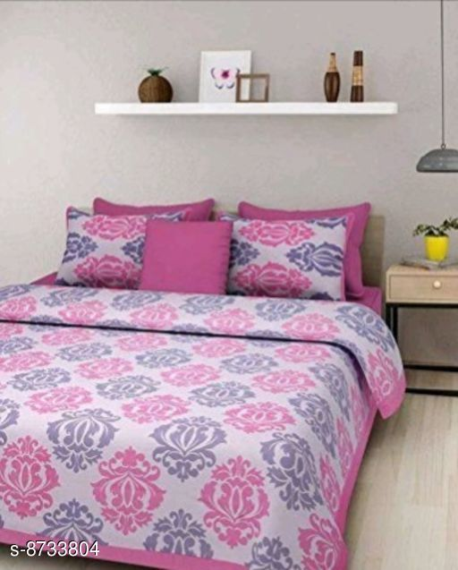 Bedsheets Elegant Cotton bedsheet  *Fabric* Cotton  *No. Of Pillow Covers* 2  *Thread Count* 180  *Multipack* Pack Of 1  *Sizes*  Queen  *Sizes Available* Queen *   Catalog Rating: ★3.8 (6)  Catalog Name: Elegant Fancy Bedsheets CatalogID_1489978 C53-SC1101 Code: 915-8733804-