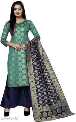 New Deginer Jaquard Suit With Banarsi Dupatta