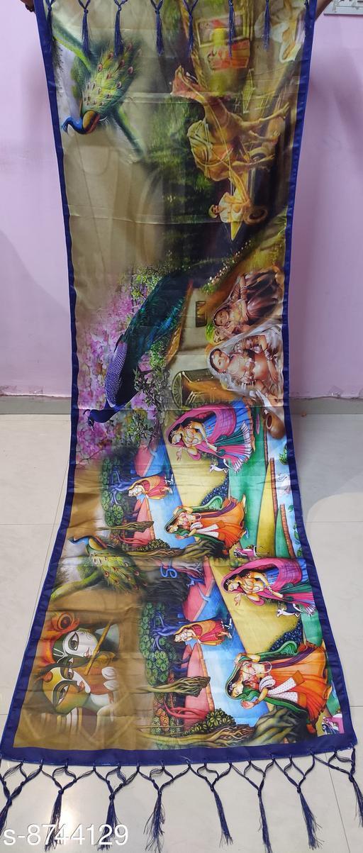 Beautiful Digital Printed Silk Dupatta
