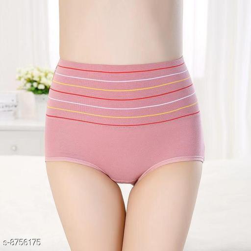 Women Seamless Pink Silk Panty