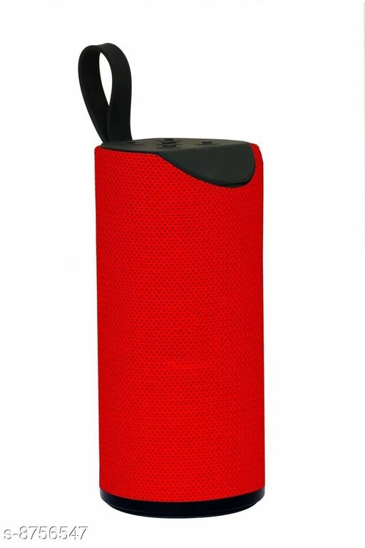 Bazz TG113 Super Bass Splashproof Wireless 5 W Bluetooth Speaker(RED, 10.2 Channel)