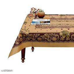 AP Home Decor Flower Design PVC 4 Seater Center Table Cover 60 x 40 (Brown)