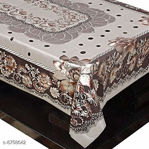 AP Home Decor Cherry Panel Design PVC 4 Seater Center Table Cover (Gold). Size 40 * 60