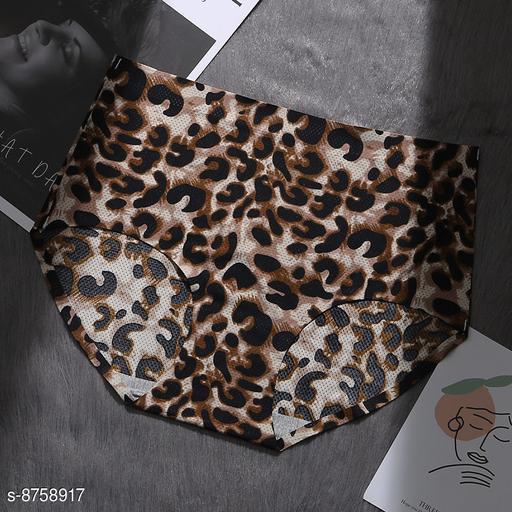 Women Seamless Brown Silk Panty