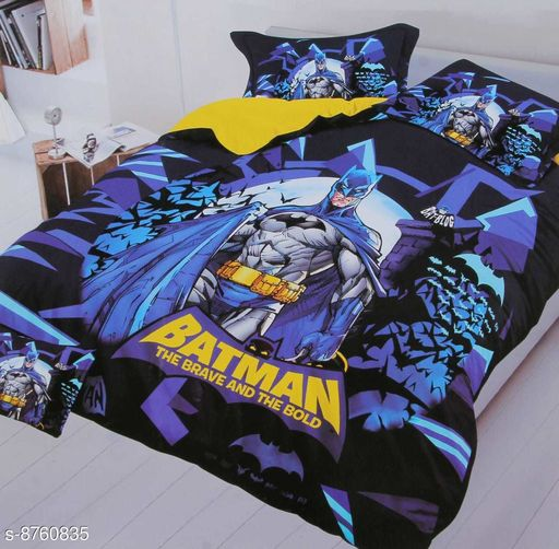 Bedsheets LATEST KIDS bedsheet  *Fabric* Glace Cotton  *Print or Pattern Type* Cartoon  *Multipack* 1  *Sizes*  Queen  *Sizes Available* Queen *    Catalog Name: Free Mask Latest Classic Kids Unisex Bedsheets CatalogID_1496461 C63-SC1322 Code: 667-8760835-