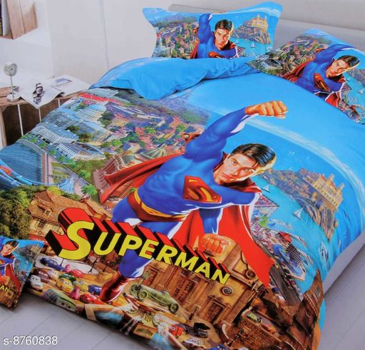 Bedsheets LATEST KIDS bedsheet  *Fabric* Glace Cotton  *Print or Pattern Type* Cartoon  *Multipack* 1  *Sizes*  Queen  *Sizes Available* Queen *    Catalog Name: Free Mask Latest Classic Kids Unisex Bedsheets CatalogID_1496461 C63-SC1322 Code: 667-8760838-