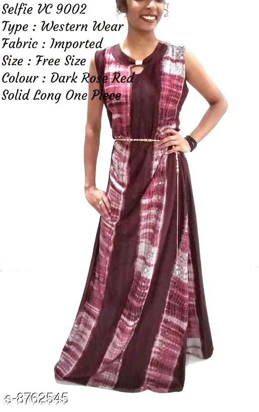 Gowns Classic Fabulous Women Gowns Pretty Imported Women's Western Gowns Vol 1  *Fabric* Imported  *Sleeves* Sleeves Are Included  *Size* Up To 28 in To 38 in ( Free Size )  *Length* Length  *Type* Stitched  *Description* It Has 1 Piece Of Women's Western Gown  *Work* Printed  *Sizes Available* Free Size, S, M, L, XL, XXL, XXXL *    Catalog Name: Classic Fabulous Women Gowns CatalogID_1496792 C79-SC1289 Code: 787-8762545-