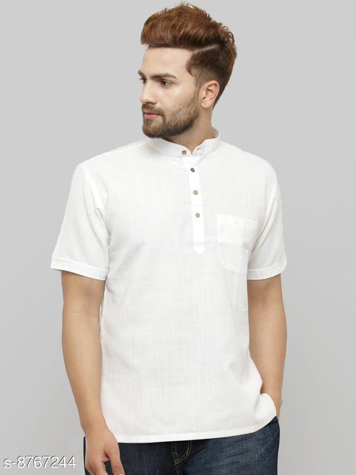Fab Kalakriti Men Cotton Linen Blend Short Shirt