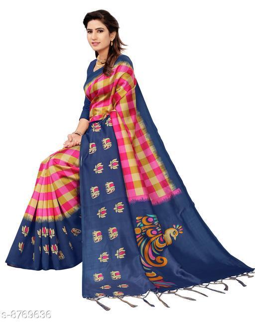 Sarees Jay Gopinath Fab Art Silk For Women's Beautiful Printed Art Silk Saree with Blouse Piece & fancy jhalar   *Saree Fabric* Art Silk  *Blouse* Running Blouse  *Blouse Fabric* Art Silk  *Pattern* Printed  *Blouse Pattern* Solid  *Multipack* Single  *Sizes*   *Free Size (Saree With Running Blouse Length Size* 6.3 m)  *Sizes Available* Free Size *    Catalog Name: Banita Attractive Sarees CatalogID_1498399 C74-SC1004 Code: 624-8769636-
