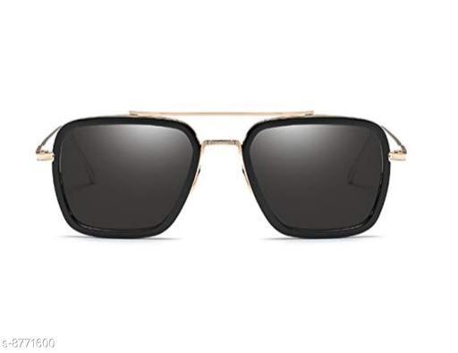 1UP Black SQUARE Metal Body Sunglass(SQUARE506-ZBLK)
