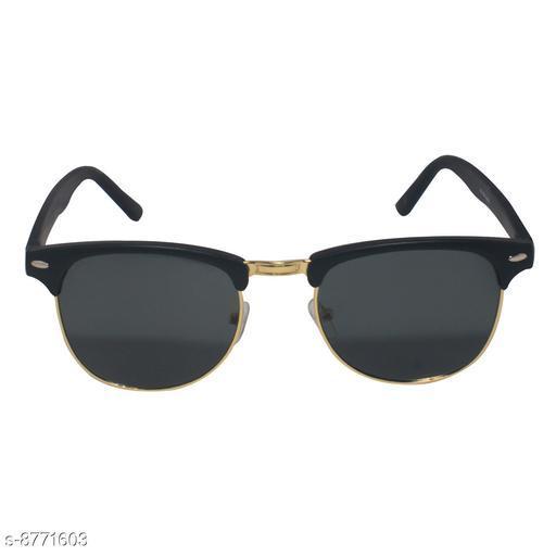 1UP Black Club-Master Plastic Body Sunglass