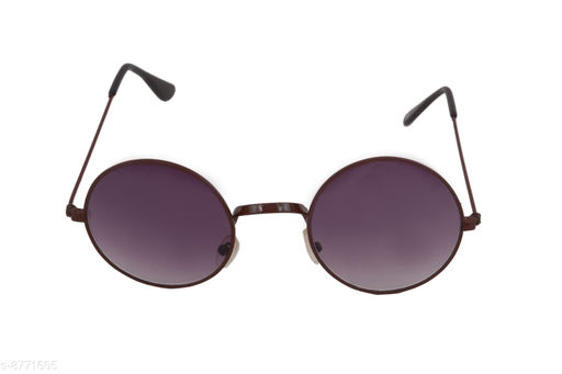 1UP Unisex Purple Round Sunglasses