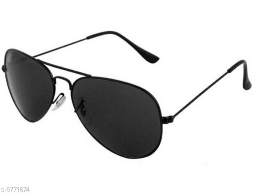 1UP Black Aviator Metal Body Sunglass